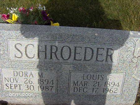 SCHROEDER, DORA M - Clinton County, Iowa | DORA M SCHROEDER