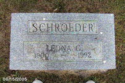 SCHROEDER, LEONA G - Clinton County, Iowa | LEONA G SCHROEDER