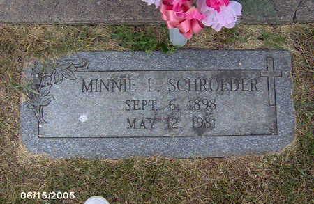SCHROEDER, MINNIE L - Clinton County, Iowa | MINNIE L SCHROEDER
