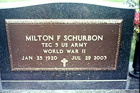 SCHURBON, MILTON F. - Clinton County, Iowa | MILTON F. SCHURBON
