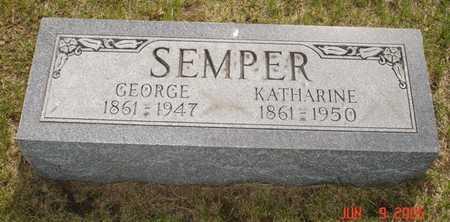 SEMPER, GEORGE - Clinton County, Iowa   GEORGE SEMPER