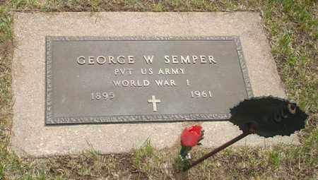 SEMPER, GEORGE W. - Clinton County, Iowa | GEORGE W. SEMPER