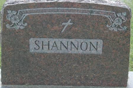 SHANNON, FAMILY MONUMENT - Clinton County, Iowa | FAMILY MONUMENT SHANNON