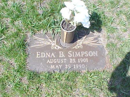 SIMPSON, EDNA B. - Clinton County, Iowa   EDNA B. SIMPSON
