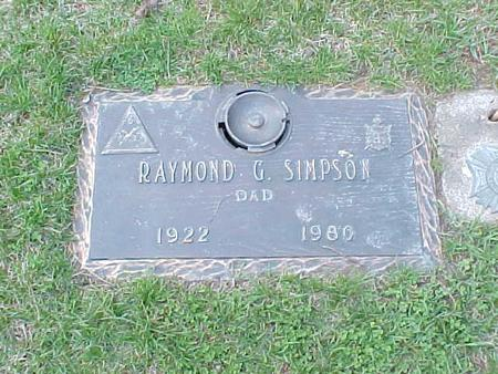 SIMPSON, RAYMOND G. - Clinton County, Iowa | RAYMOND G. SIMPSON