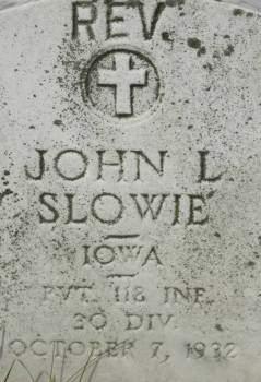 SLOWIE, JOHN L. REV. - Clinton County, Iowa | JOHN L. REV. SLOWIE