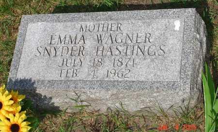 WAGNER HASTINGS, EMMA - Clinton County, Iowa   EMMA WAGNER HASTINGS