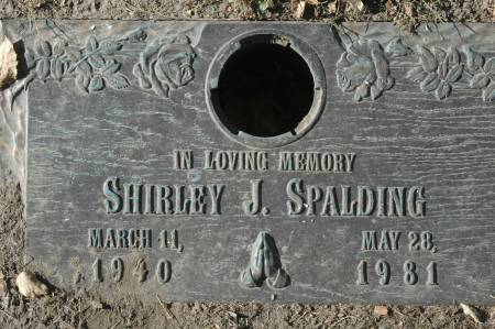 SPALDING, SHIRLEY J. - Clinton County, Iowa | SHIRLEY J. SPALDING