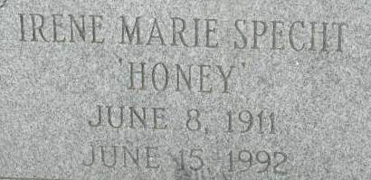 SPECHT, IRENE MARIE