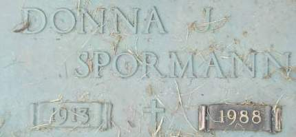 SPORMANN, DONNA J. - Clinton County, Iowa | DONNA J. SPORMANN