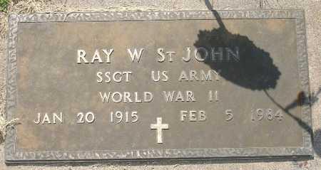 ST. JOHN, RAY W. - Clinton County, Iowa   RAY W. ST. JOHN