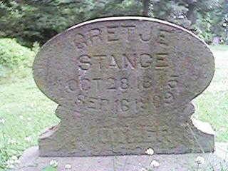 STANGE, GRETJE - Clinton County, Iowa   GRETJE STANGE