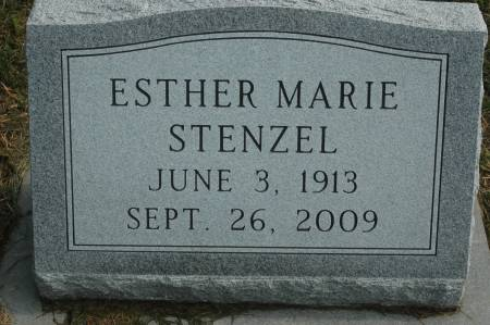 STENZWL, ESTHER MARIE - Clinton County, Iowa   ESTHER MARIE STENZWL