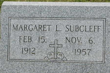 SUBCLEFF, MARGARET L. - Clinton County, Iowa | MARGARET L. SUBCLEFF