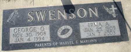 SWENSON, IRMA A. - Clinton County, Iowa | IRMA A. SWENSON