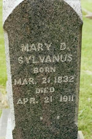 SYLVANUS, MARY D. - Clinton County, Iowa | MARY D. SYLVANUS