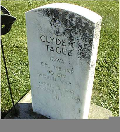 TAGUE, CLYDE T. - Clinton County, Iowa   CLYDE T. TAGUE