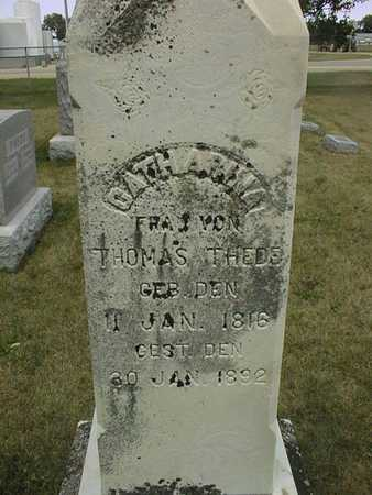 THEDE, CATHARINA - Clinton County, Iowa | CATHARINA THEDE