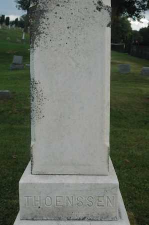 THOENSSEN, FAMILY MONUMENT - Clinton County, Iowa   FAMILY MONUMENT THOENSSEN