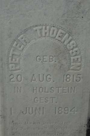 THOENSSEN, PETER - Clinton County, Iowa | PETER THOENSSEN