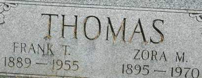 THOMAS, ZORA M. - Clinton County, Iowa | ZORA M. THOMAS