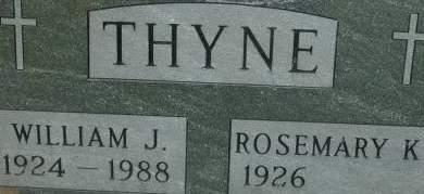 THYNE, WILLIAM J. - Clinton County, Iowa | WILLIAM J. THYNE