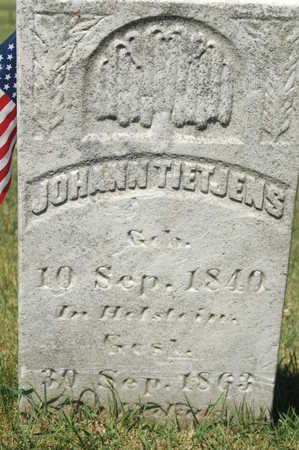 TIETJENS, JOHANN - Clinton County, Iowa   JOHANN TIETJENS