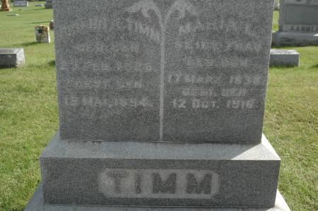 TIMM, MARIA L. - Clinton County, Iowa   MARIA L. TIMM