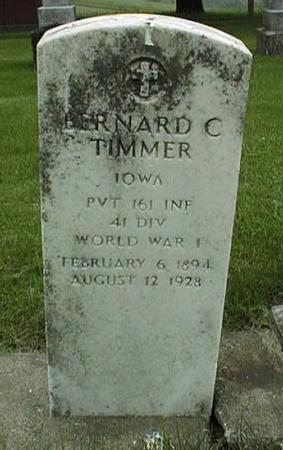 TIMMER, BERNARD C. - Clinton County, Iowa | BERNARD C. TIMMER