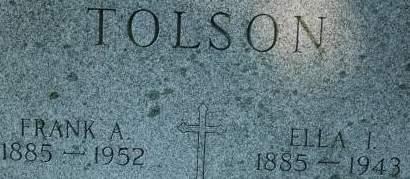 TOLSON, ELLA I. - Clinton County, Iowa | ELLA I. TOLSON