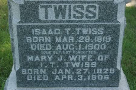 TWISS, ISAAC T. - Clinton County, Iowa | ISAAC T. TWISS