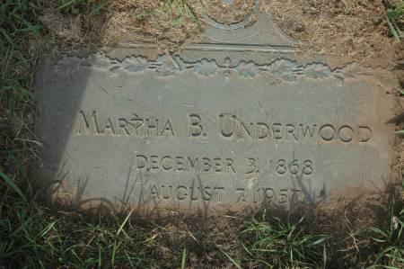 UNDERWOOD, MARTHA B. - Clinton County, Iowa | MARTHA B. UNDERWOOD