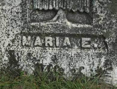 UNKNOWN, MARIA E. - Clinton County, Iowa | MARIA E. UNKNOWN