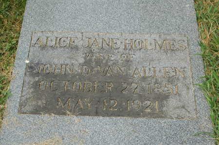 VAN ALLEN, ALICE JANE - Clinton County, Iowa | ALICE JANE VAN ALLEN