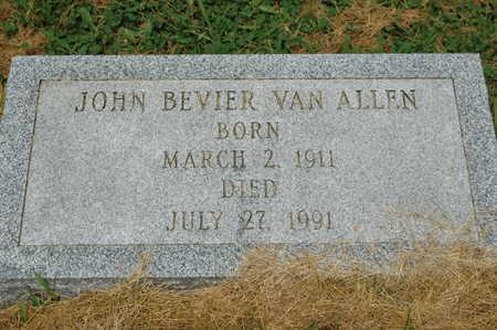 VAN ALLEN, JOHN BEVIER - Clinton County, Iowa   JOHN BEVIER VAN ALLEN