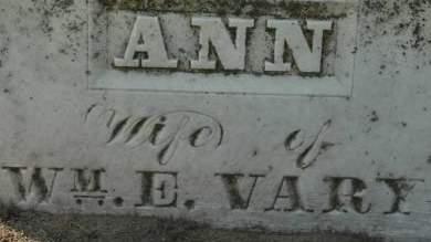 VARY, ANN - Clinton County, Iowa | ANN VARY