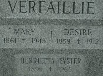 VERFAILLIE, MARY - Clinton County, Iowa | MARY VERFAILLIE