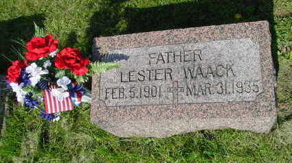 WAACK, LESTER WILLIAM - Clinton County, Iowa | LESTER WILLIAM WAACK