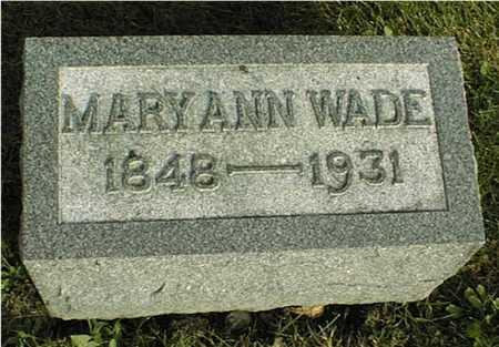 WADE, MARY ANN - Clinton County, Iowa | MARY ANN WADE
