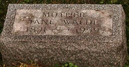 WALDE, JANE - Clinton County, Iowa | JANE WALDE