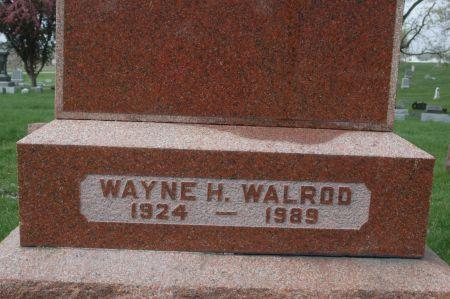 WALROD, WAYNE H. - Clinton County, Iowa   WAYNE H. WALROD