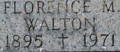 WALTON, FLORENCE M. - Clinton County, Iowa | FLORENCE M. WALTON