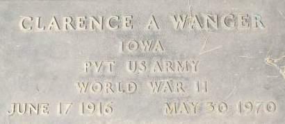 WANGER, CLARENCE A. - Clinton County, Iowa   CLARENCE A. WANGER