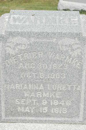 WARMKE, MARIANNA LORETTA - Clinton County, Iowa   MARIANNA LORETTA WARMKE