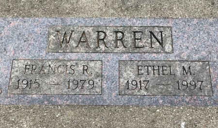 WARREN, ETHEL M. - Clinton County, Iowa | ETHEL M. WARREN