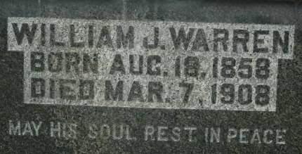 WARREN, WILLIAM J. - Clinton County, Iowa   WILLIAM J. WARREN