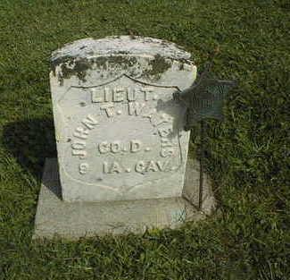 WATERS, LT. JOHN T. - Clinton County, Iowa | LT. JOHN T. WATERS