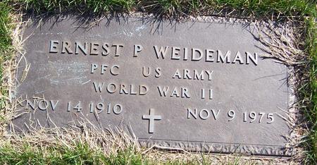 WEIDEMAN, ERNEST P. - Clinton County, Iowa | ERNEST P. WEIDEMAN
