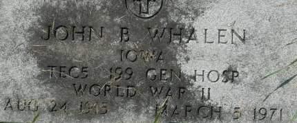 WHALEN, JOHN B. - Clinton County, Iowa   JOHN B. WHALEN