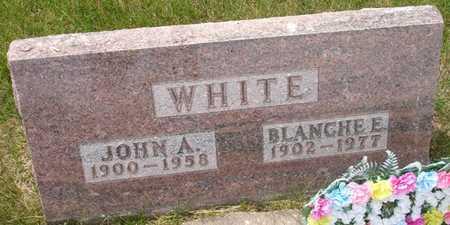 WHITE, BLANCHE E. - Clinton County, Iowa   BLANCHE E. WHITE
